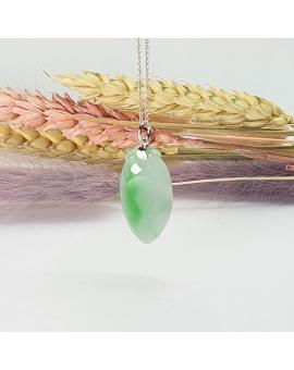 "Translucent Green Jadeite ""Longevity Peach"" Pendant"