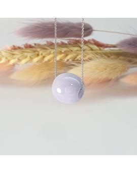 """Translucent Lavender Jadeite """"Barrel"""" Pendant (JAB002834)"""