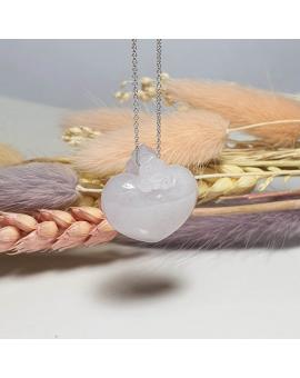 "Translucent Lavender Jadeite ""Love & Bliss"" Pendant (JAB002981)"