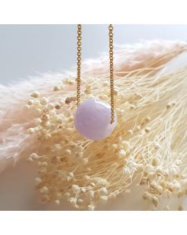 "Translucent Sweet Pinkish Lavender Jadeite ""Barrel"" Pendant (JAB003294)"