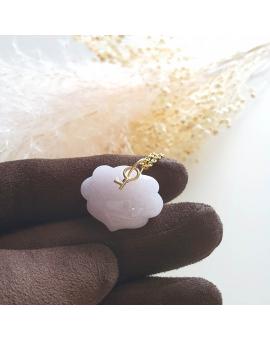 """Translucent Lavender Jadeite """"Ruyi Lock"""" Pendant (JAB003409)"""