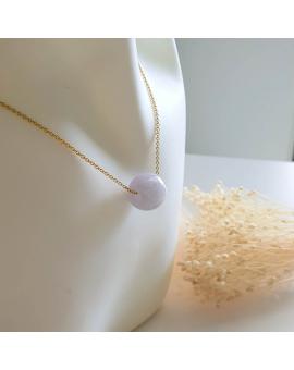 """Translucent Lavender Jadeite """"Barrel"""" Pendant (JAB003545)"""